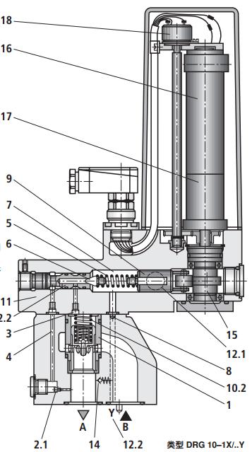2)的开口剖面和压缩弹簧(10图片