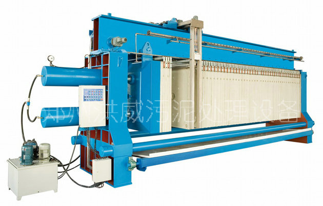 hw自动化污泥处理设备 自动拉板隔膜压滤机