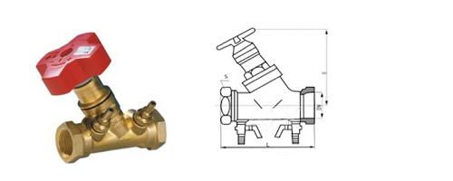 sp15f内螺纹静态数字锁定平衡阀供应图片