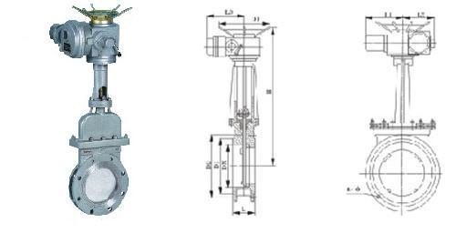 apz973x电动暗板刀型闸阀适用范围图片
