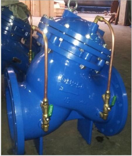 调节阀的开度可得到合适的主阀开启速度,当水泵停止工作后,进口端水压图片